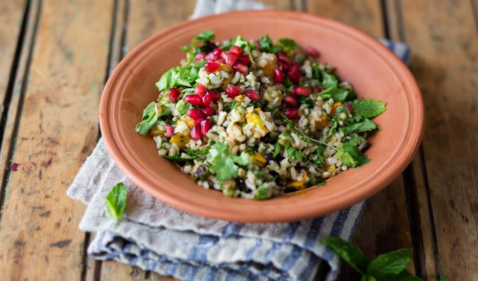 AFSA Pomegranate and chickpea Pilaf Recipe