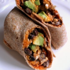 AFSA Sweeet Potato, Avo, Black Bean Burrito