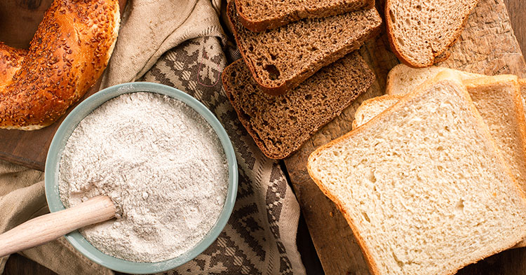 image of bread and flour